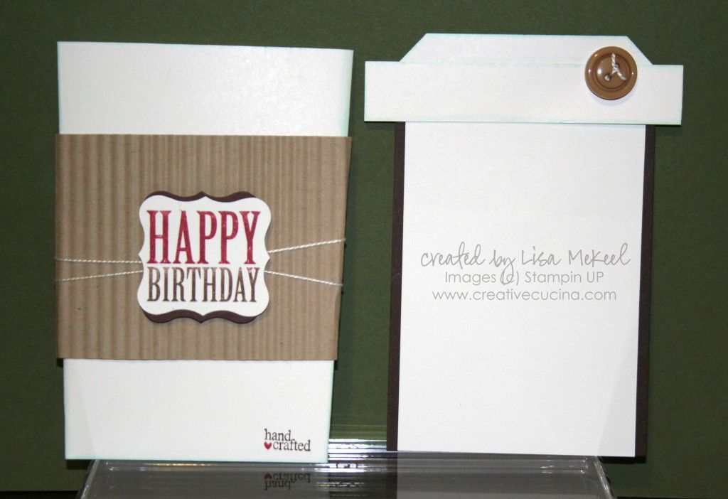 birthday coffee cup slider card with tutorial but it's