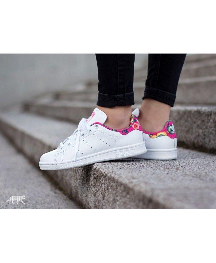 fcae714763b Adidas Stan Smith W Ftwr White Ray Pink Trainers
