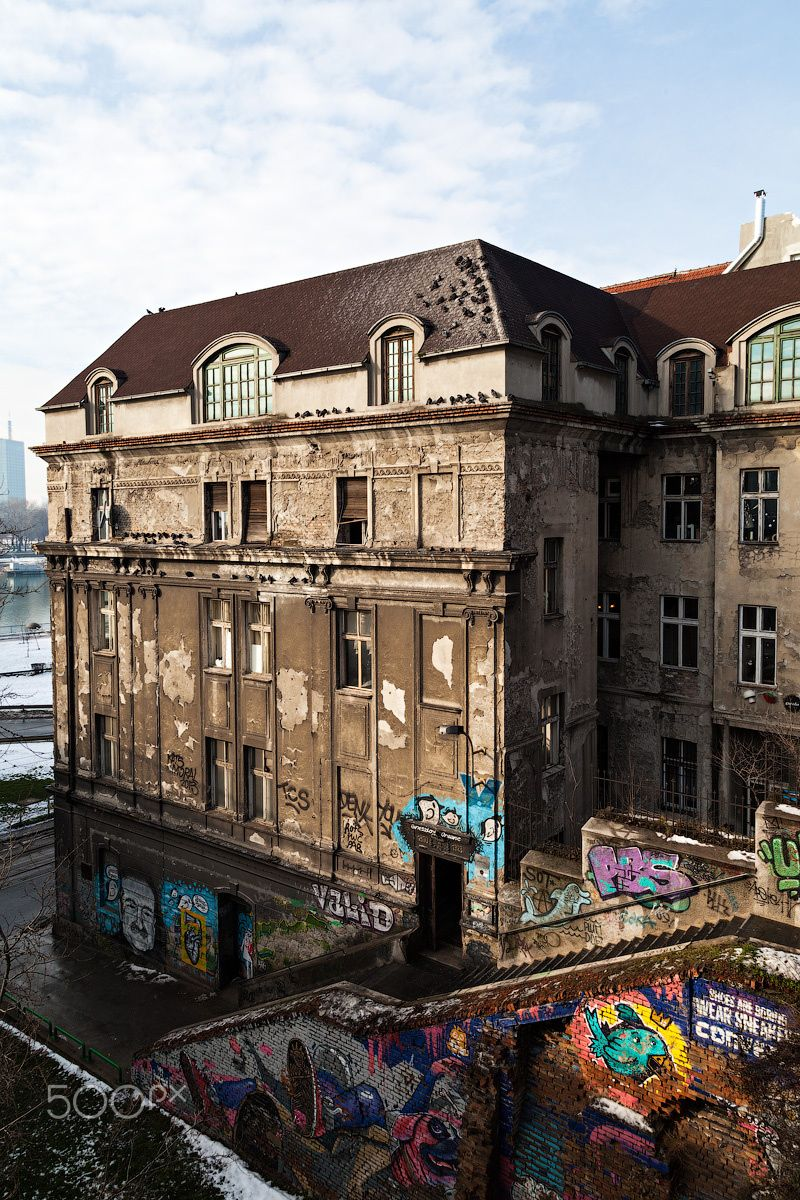 Old Town Of Belgrade - Old beautiful building is located near the Brankov bridge, Belgrade Old Town.