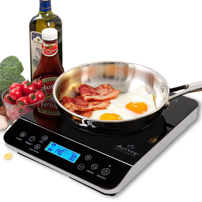 Duxtop Lcd 1800 Watt Portable Induction Cooktop Countertop Burner