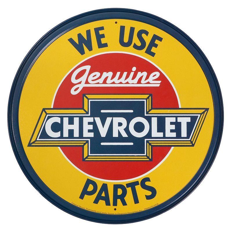 Chevrolet Vintage Metal Wall Decor, Yellow   Vintage metal, Metal ...