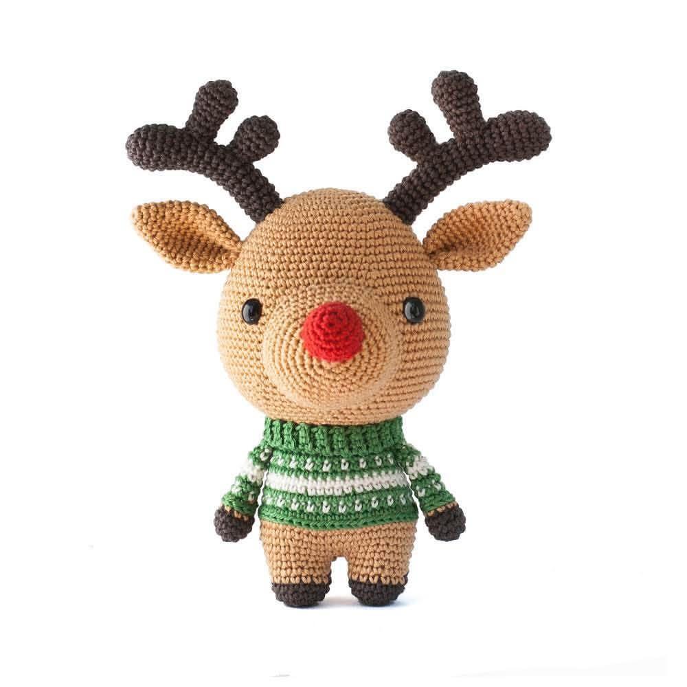 Rudolph the reindeer, a cute DIY Fluffies amigurumi crochet pattern ...