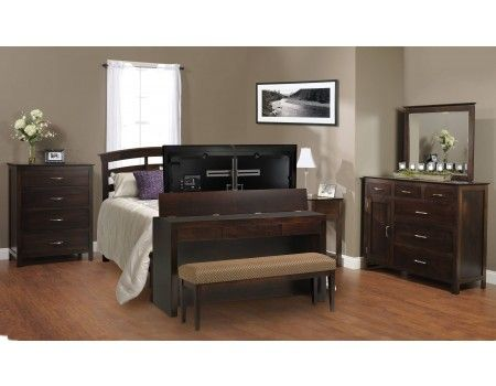 Queen King Footboard Desk Lift W Bench Tv Lift Cabinet For The