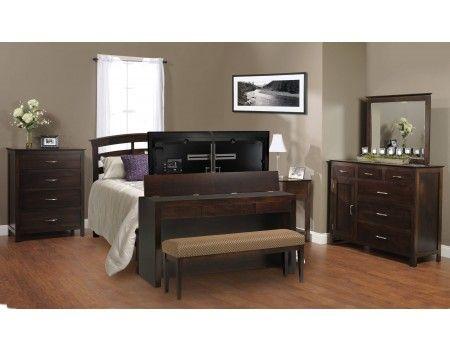 Queen King Footboard Desk Lift W Bench Tv Lift Cabinet Tv Lift