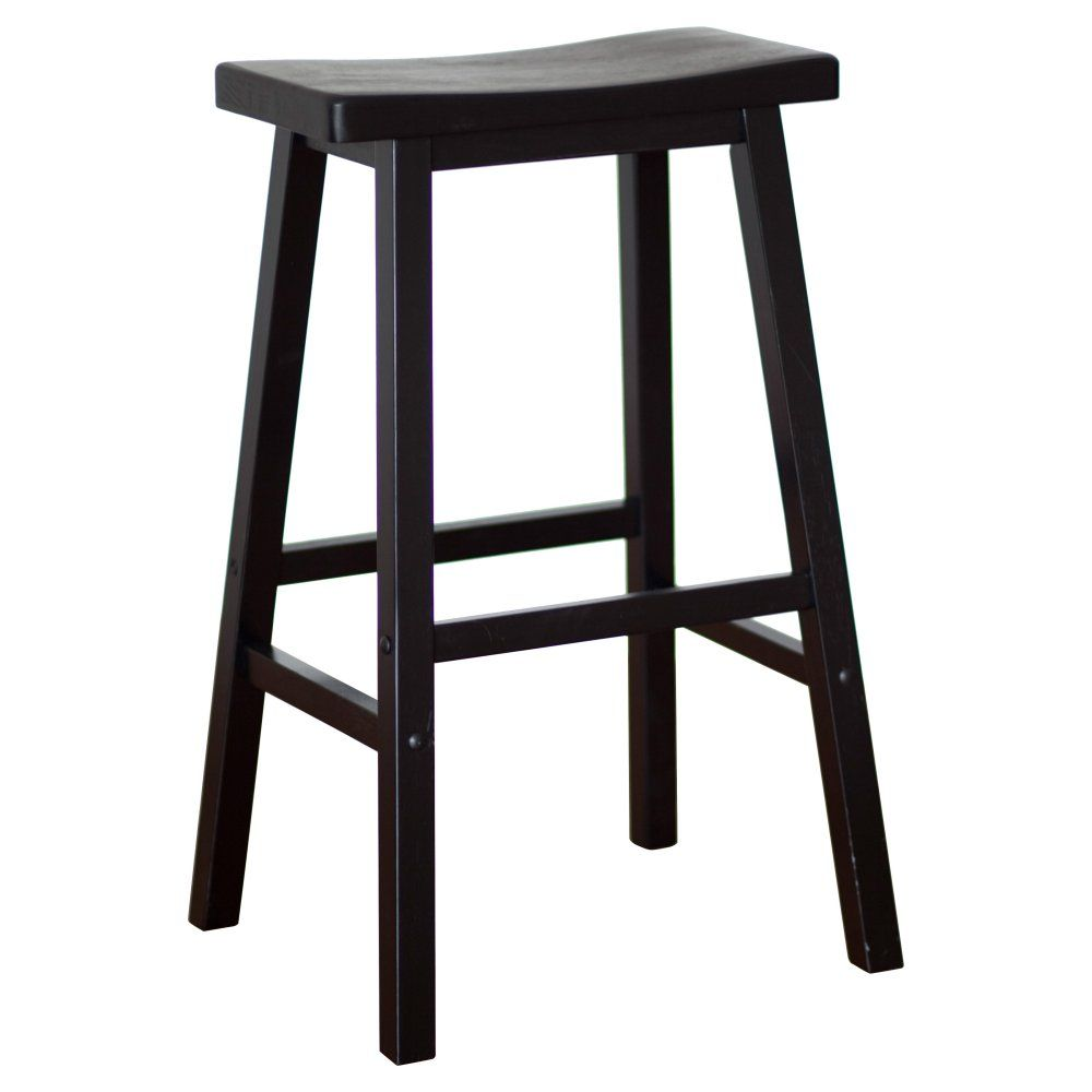 Winsome Wood 29 Inch Rta Single Saddle Seat Bar Stool Black