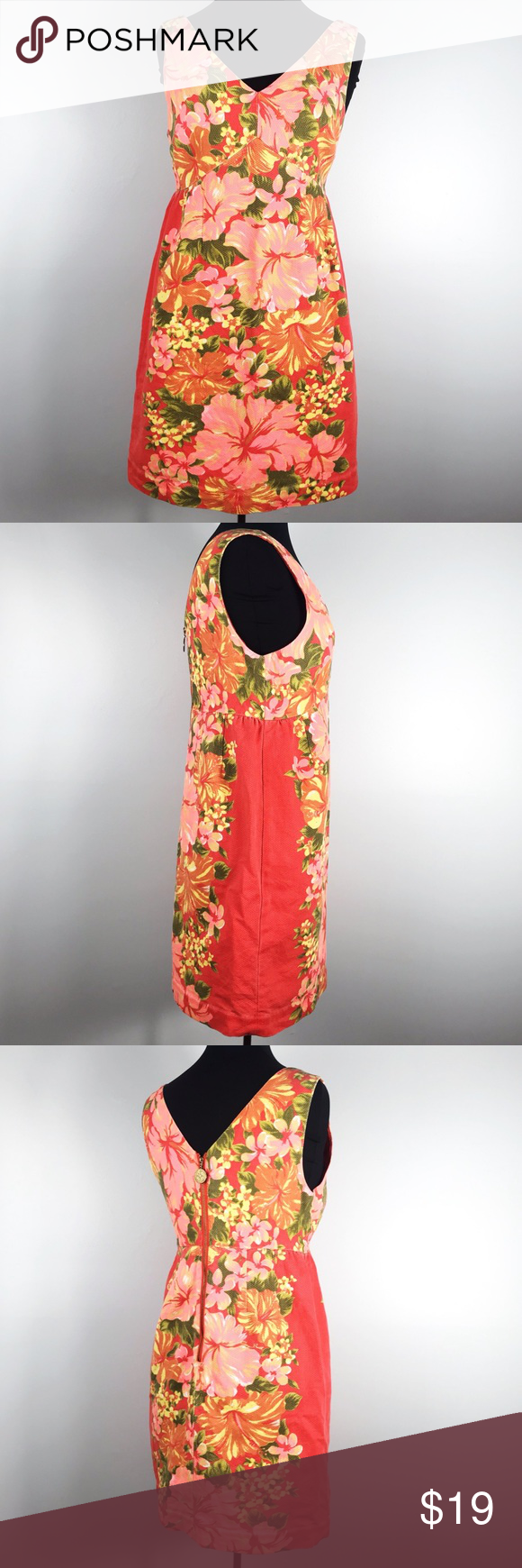 62ca41074128a Tracy Feith for Target Tropical Floral Print Dress Tracy Feith for Target  Coral Tropical Floral Print Sheath Dress - Features: coral background with  pink ...