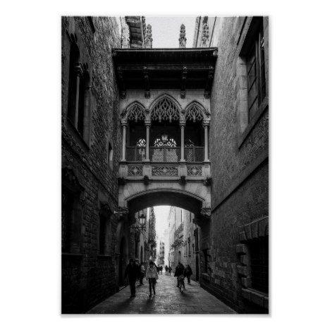 Gothic Quarter Architecture of Barcelona Poster | Zazzle.com