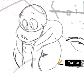 found this on doodle too it is Sans.