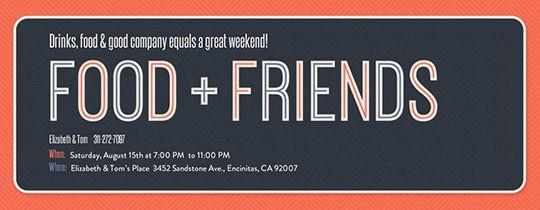 Food Friends Invitation Housewarming Pinterest Housewarming