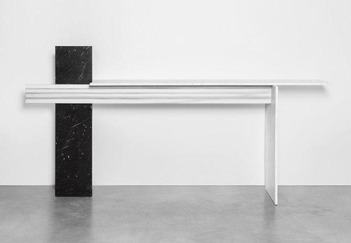 10 consoles en marbre : Console Cut Paste, Robert Stadler (Carpenters Workshop Gallery)