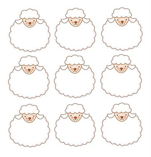 Resultado de imagen para separadores biblicos ovejitas  tags
