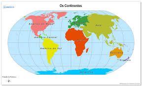 Resultado de imagen para imagenes de mapamundi para señalar los continentes