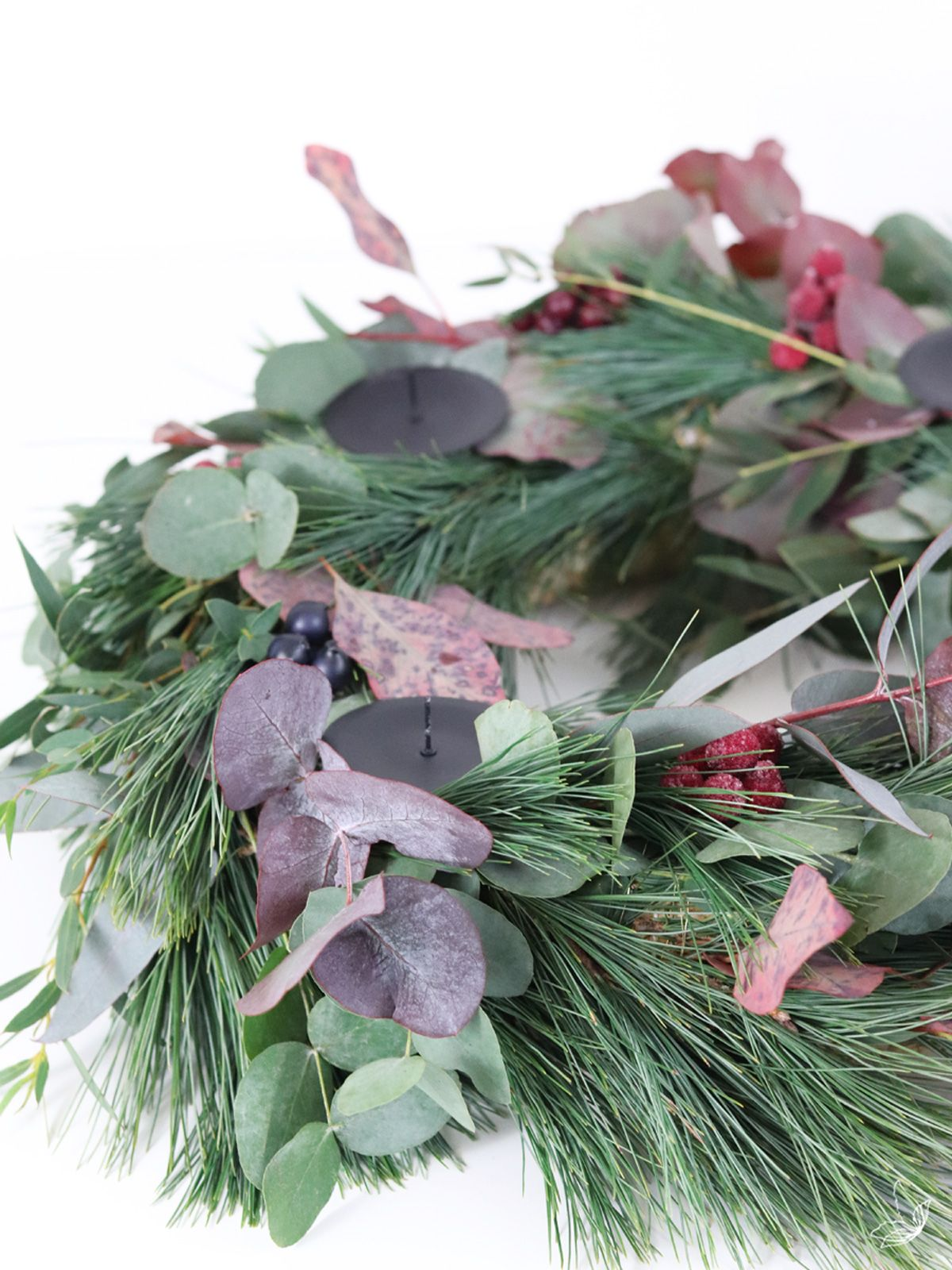 DIY Eukalyptus Kranz & Adventskranz ⋆ elfenweiss #adventskranzskandinavisch