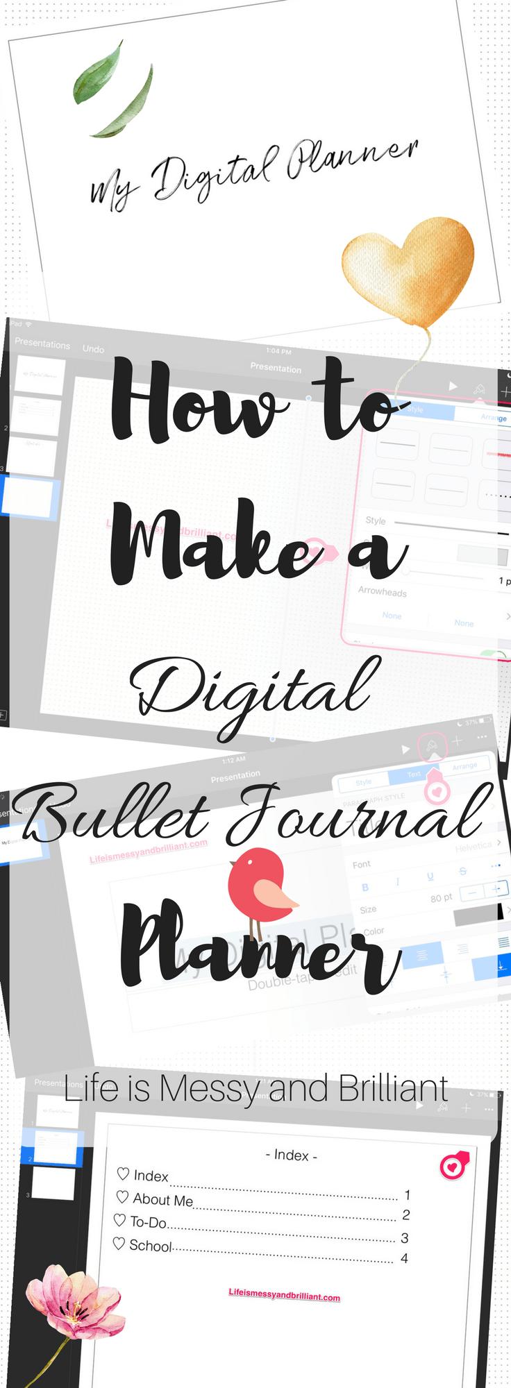 online bullet journal