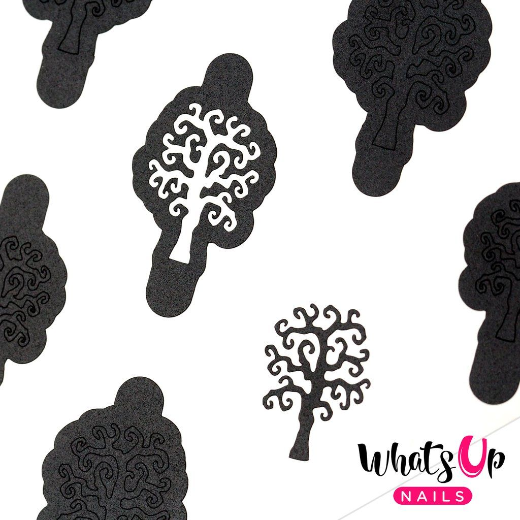 Scary Tree Stencils | Halloween nails, Tree stencil ...