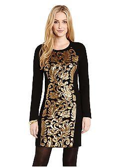 2b24cb3cbd8 Karen Kane Gold Sequin Dress