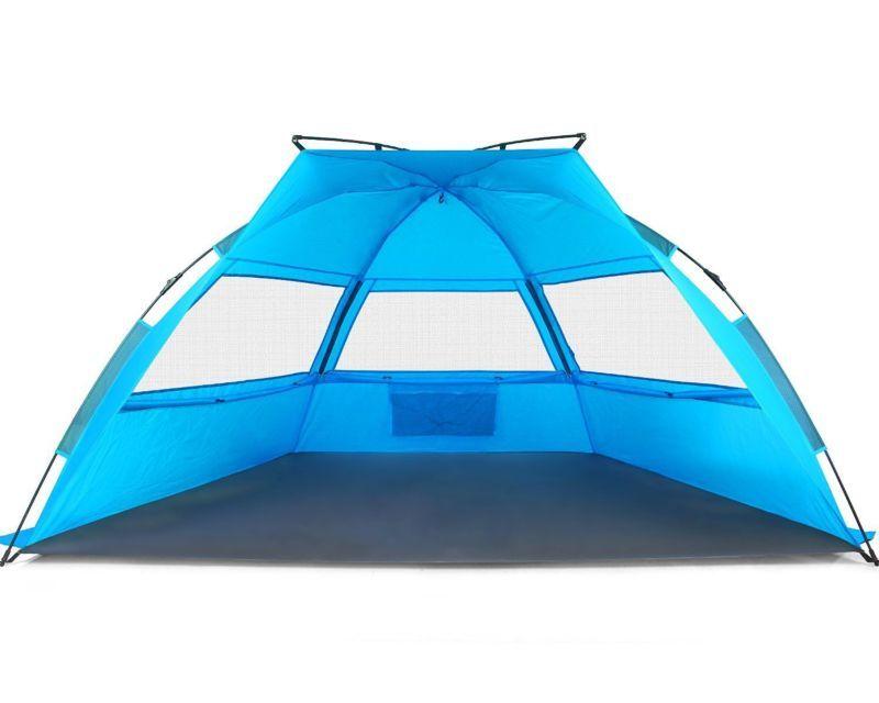 Tagvo Pop Up Beach Tent Sun Shelter Easy Set Tear Down Fibergl Frame Ligh