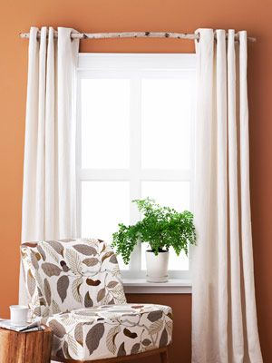 That Curtain Rod Is A Stick I Love It Easy Diy Decor Easy