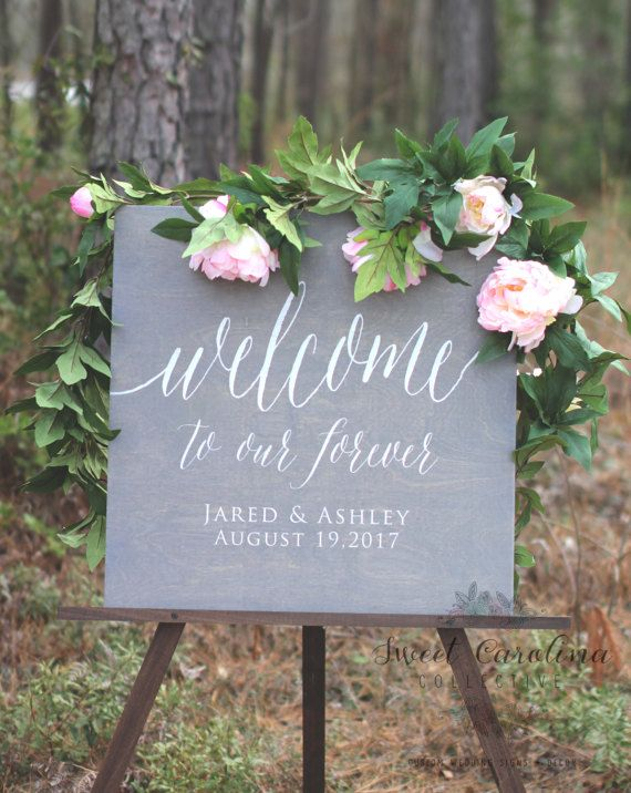Wedding Sign Chalkboard Style Pink Roses Today I Marry My Best Friend