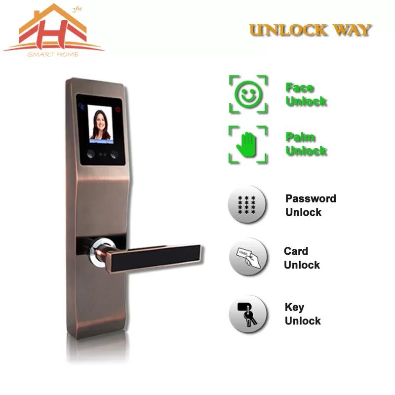 Face And Fingerprint Entry Door Lock With With Anti Peephole Structure In 2020 Entry Door Locks Entry Doors Door Locks