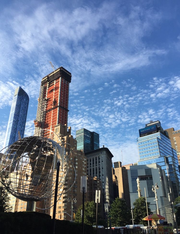 Morning in Columbus Circle offers a plethora of possibilities in New York City.