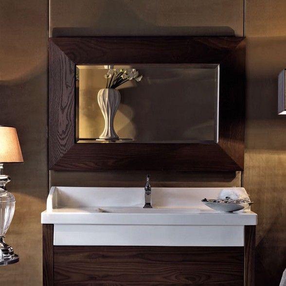 Ws Bath Collections Bentley 918047 Wall Mounted Bathroom Mirror With Wood Frame Bathroom Vanity Units Vanity Wall Mirror Living Room Mirrors
