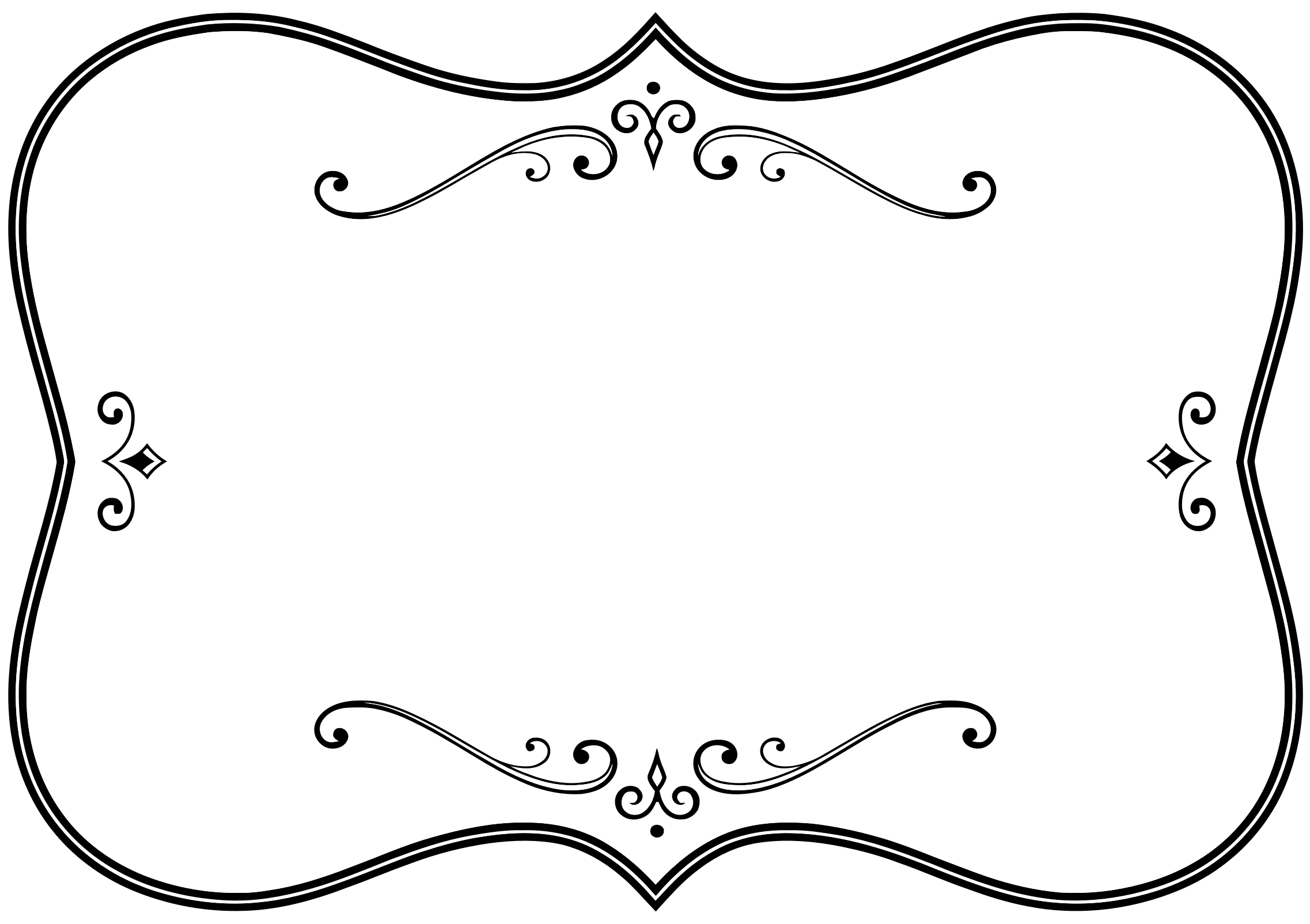 Decorative Black And White Flourish Frame By Gdj Decorative Black And White Flourish Frame On Openclipart Borders And Frames Art Deco Borders Free Clip Art