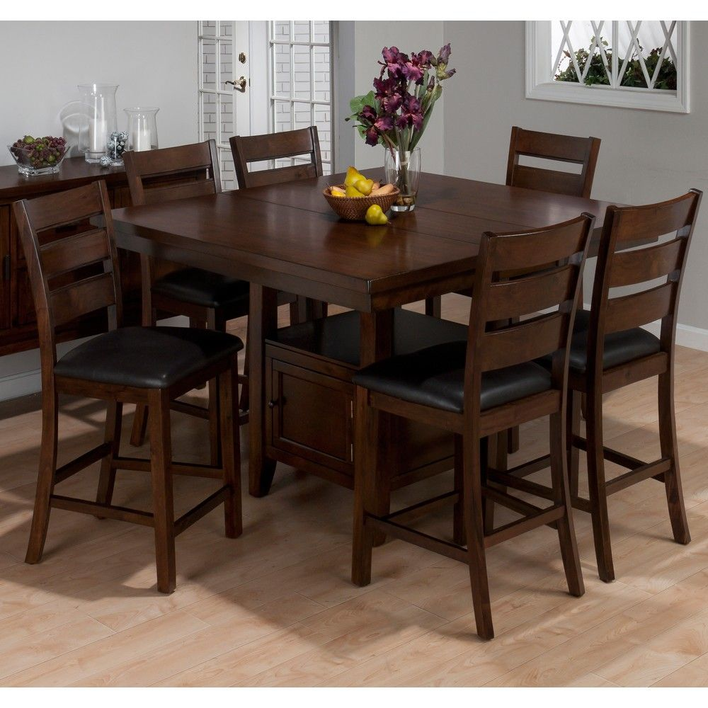Taylor 337 54 Wood Counter Height Dining Table Stools In Cherry By Jofran Top Kitchen Table Kitchen Table Settings Counter Height Dining Table Set