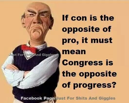 If Con Is The Opposite Of Pro It Must Mean Congress Is The Opposite Of Progress Naughty Humor Funny Jokes Funny Quotes