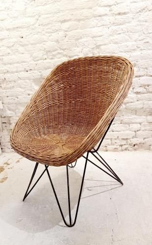 Best Garden Armchairs In Wicker With Hairpin Legs In Wrought 400 x 300
