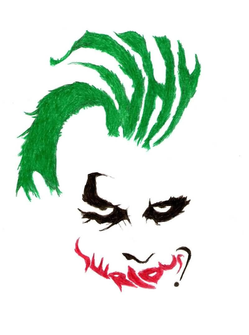 d32125086 Why So Serious Tattoo Famous why so serious joker face tattoo stencil design  .