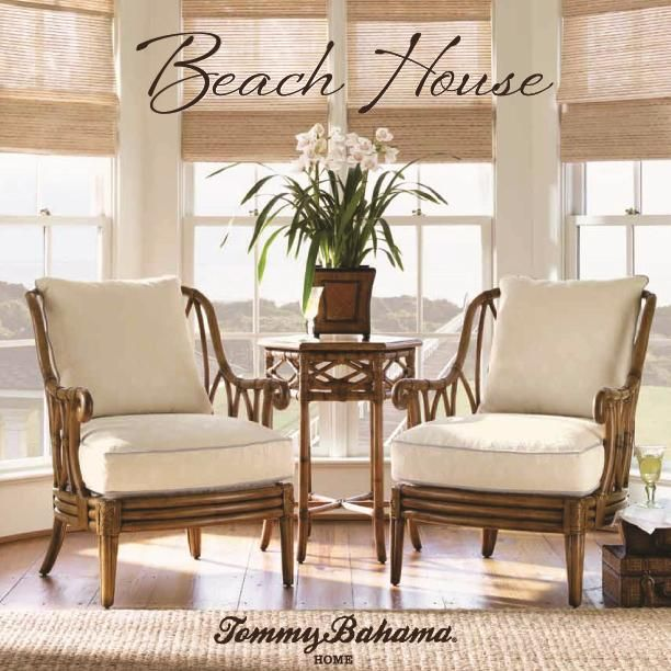 Beach House Ocean Breeze Chair With Exposed Rattan Details By Tommy Bahama Home Baer S Furniture Wood Miami Ft Lauderdale Orlando