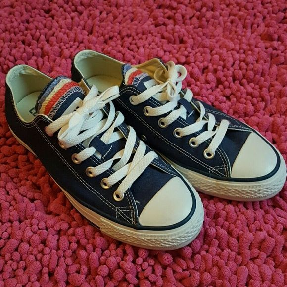 Original New Converse All Star Canvas Shoes Men S Sneakers For Low Clic Skateboarding Black