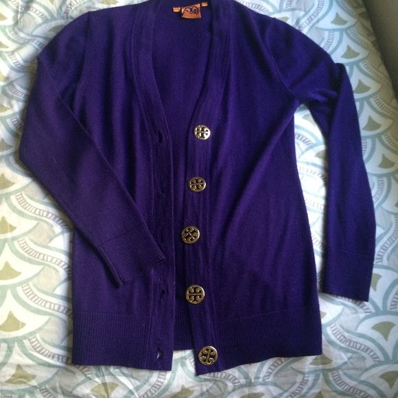 Tory burch purple cardigan. Love this purple cardigan for a pop of color. Tory Burch Sweaters Cardigans