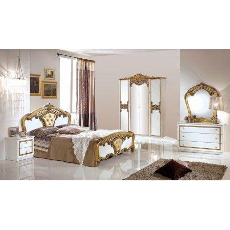 Chambre Classic Eva Blanc Et Or Bedroom Decor Home Decor Furniture