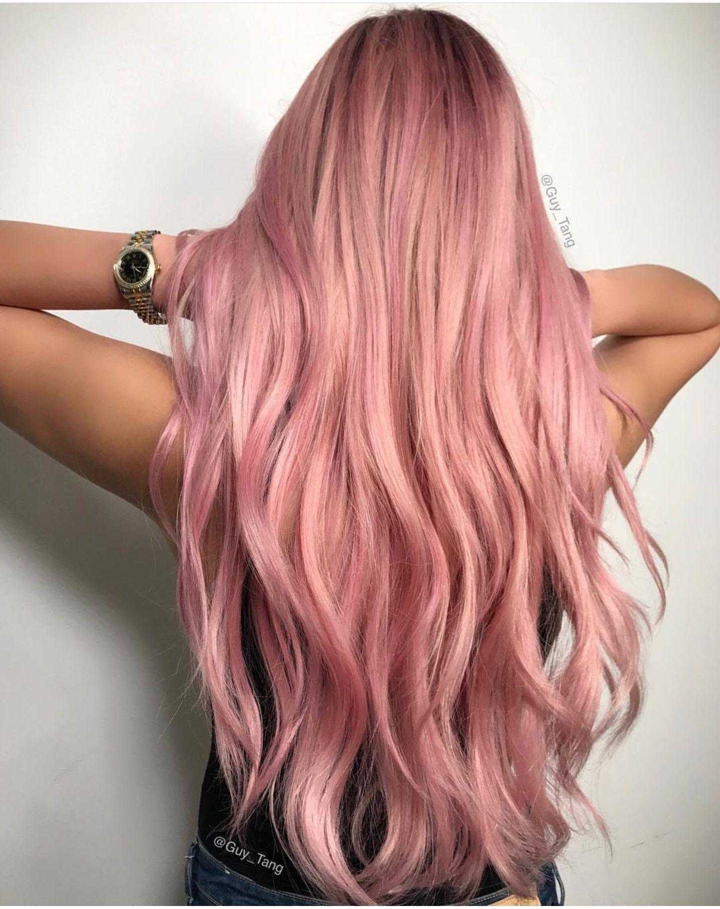 pink hair by guy tang h a i r en 2019 gold hair gold. Black Bedroom Furniture Sets. Home Design Ideas