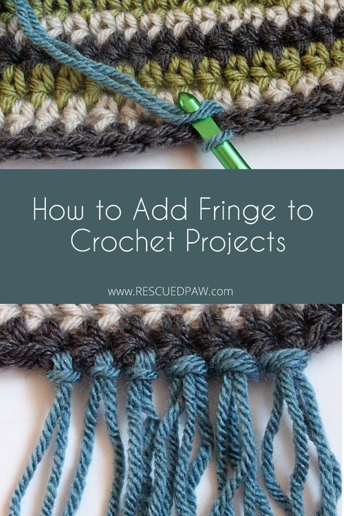 How To Add Fringe To Crochet Patterns Free Crochet Tutorial