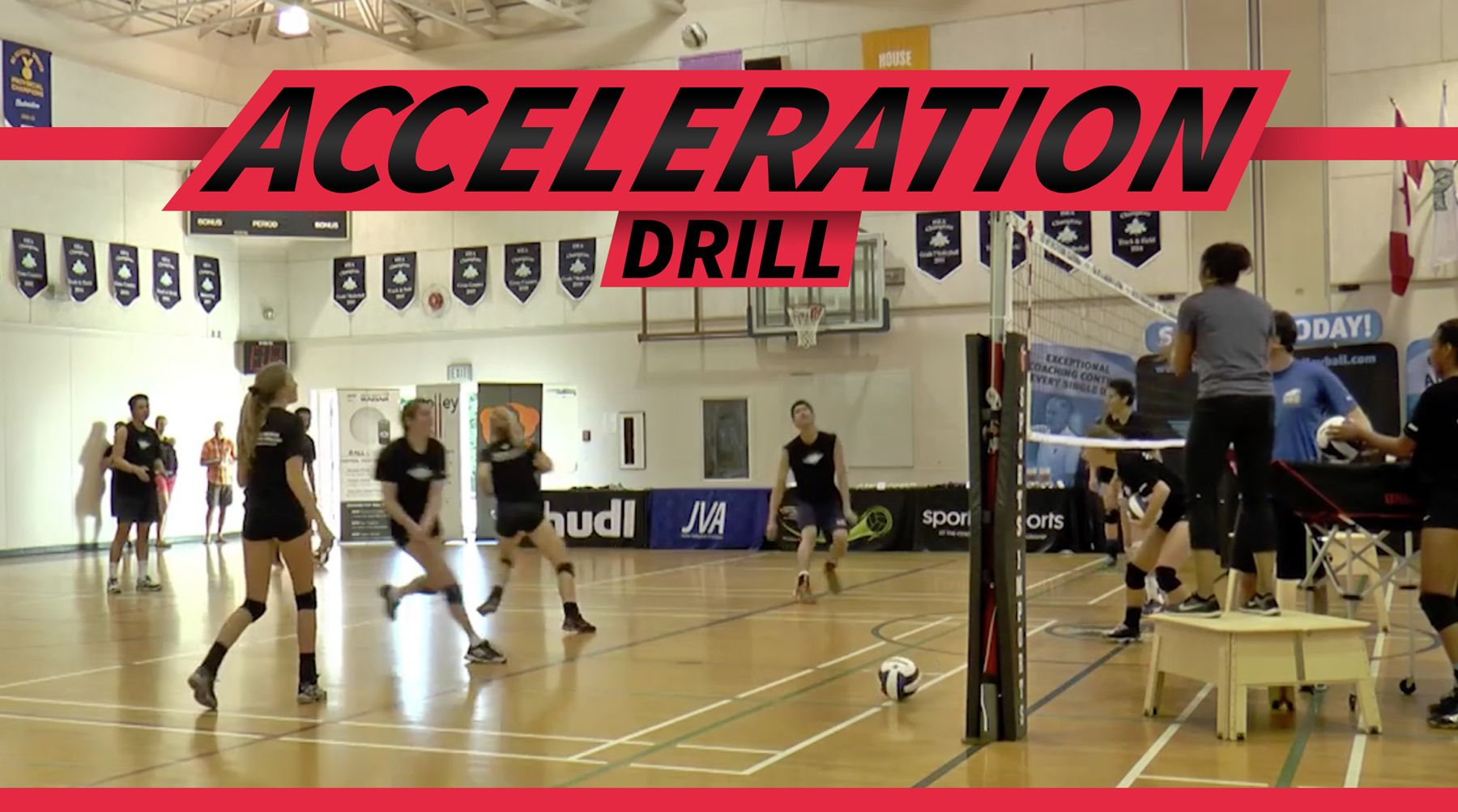 Acceleration Drill From Salima Rockwell The Art Of Coaching Volleyball Coaching Volleyball Volleyball Conditioning Volleyball Drills