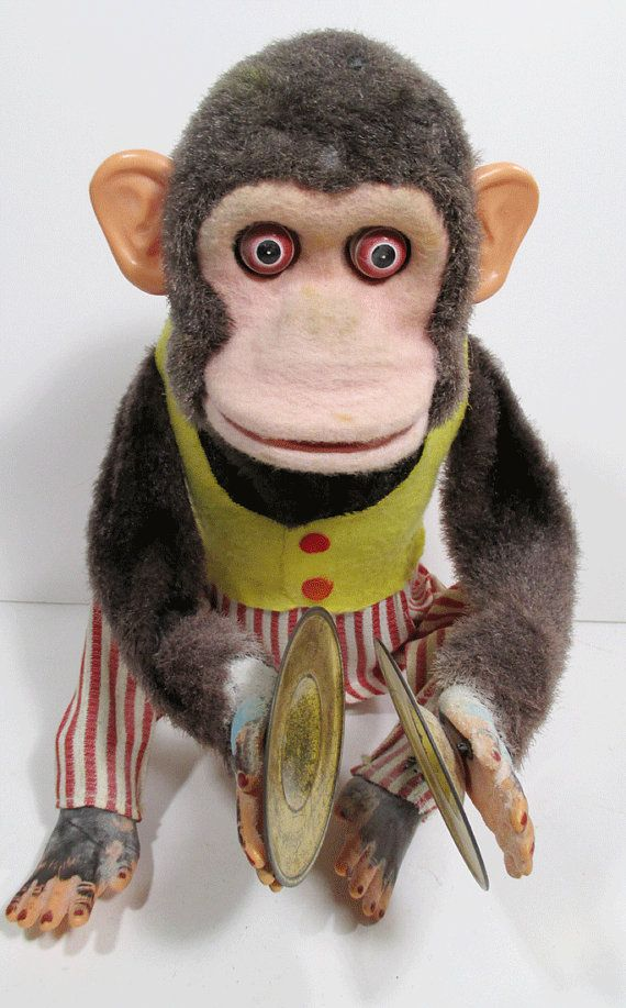 Vintage Clapping Monkey Toy With Cymbals By Urbanrenewaldesigns