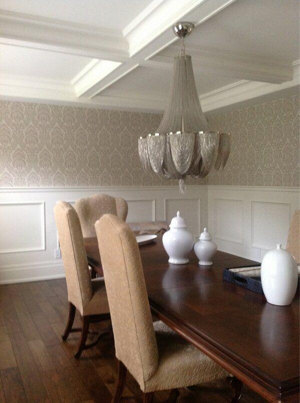 Half Wall Wood Paneling: Wallpaper Installation & Wood Panelling Painted By NgI