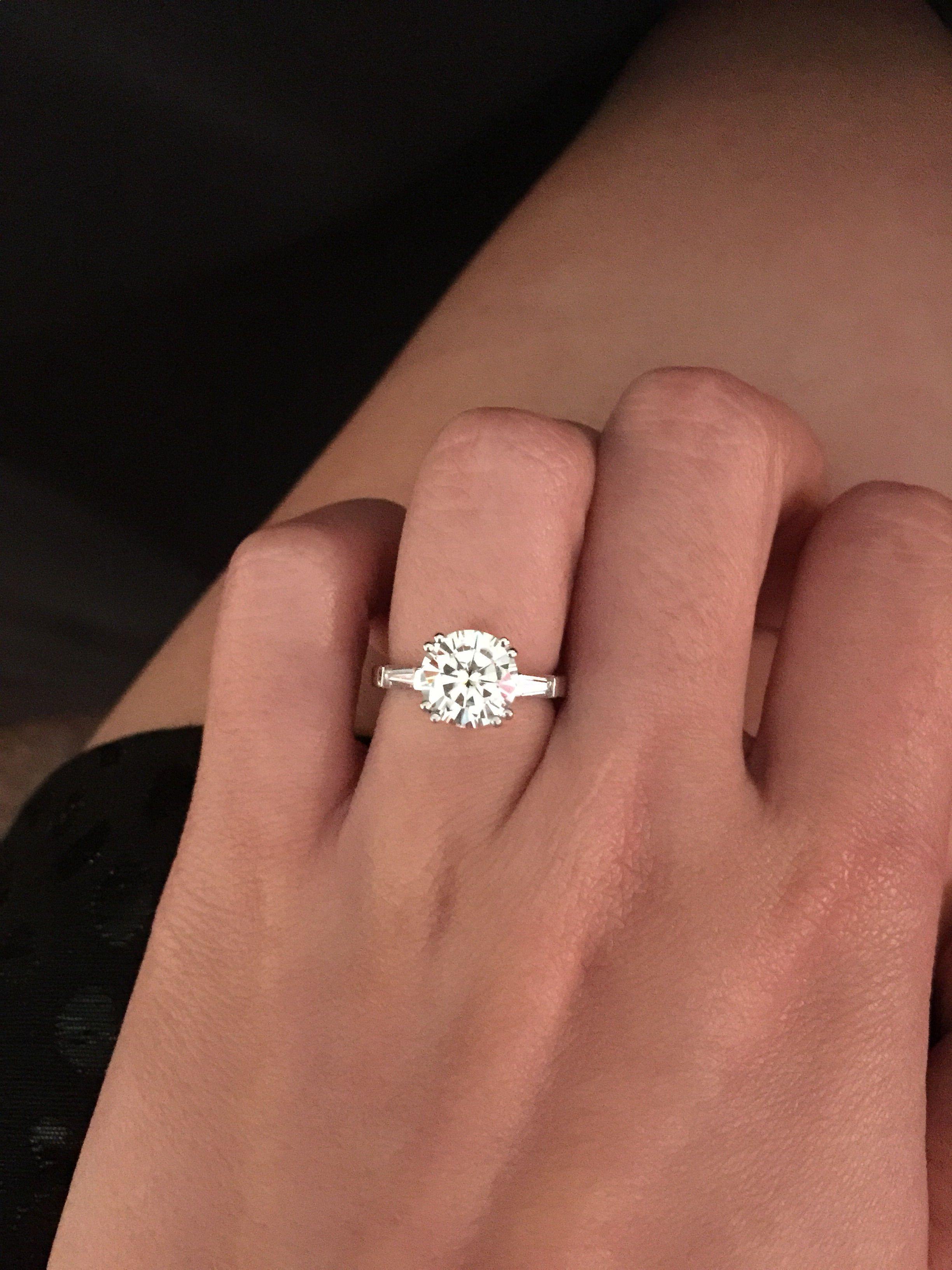 Show Me Your Round Stone With Side Baguettes Weddingbee Page 3