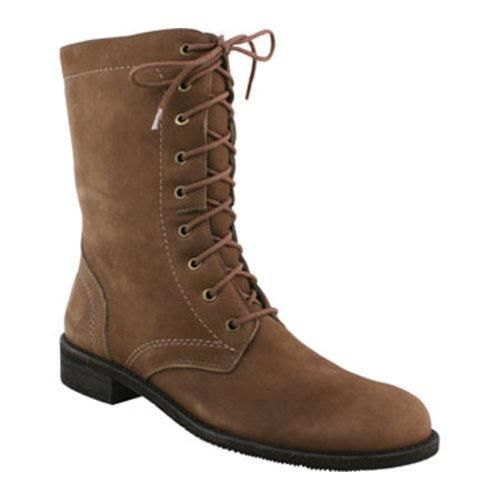 Elites Womens Boots Leather Kateri 2 Taupe Roughout