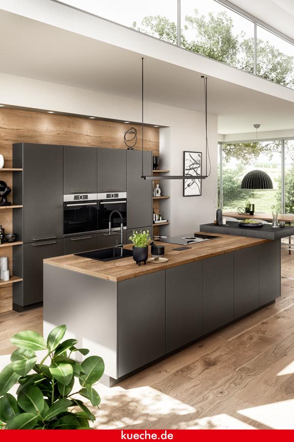Matte Küche mit Holz mixen