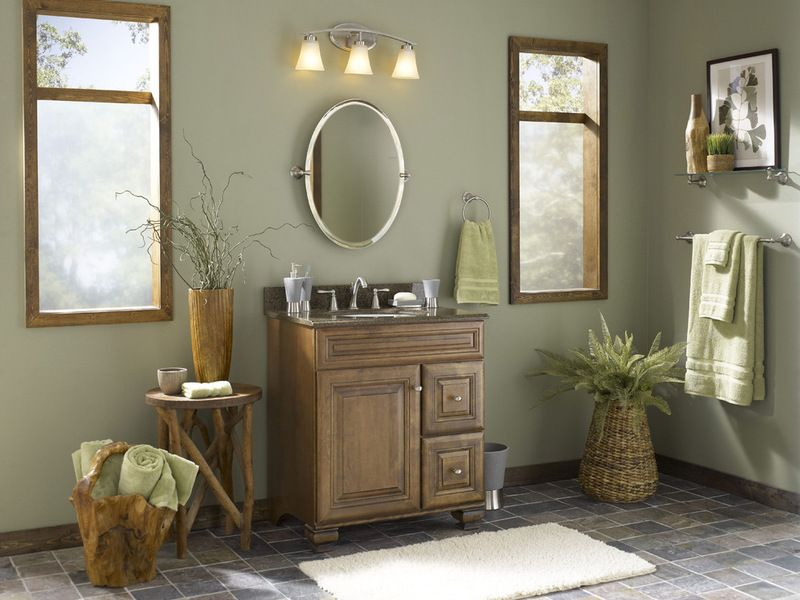 Tropical Bathroom By Loweu0027s Home Improvement Valspar, Grandmau0027s Linen  6001 1C · Home ImprovementLowes Paint ...