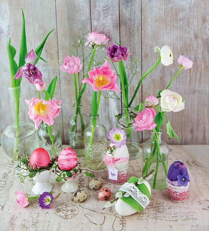Pin By Burlui Andreea On Easter Glass Vase Home Decor Vase