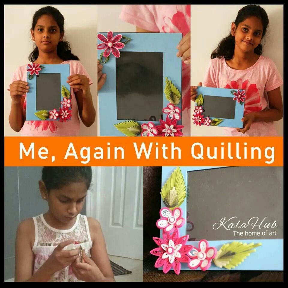 Quilling student