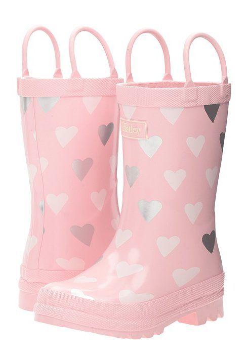 Hatley Kids Polka Dot Hearts Rain Boots (Toddler/Little Kid) (Pink) Girls Shoes - Hatley Kids, Polka Dot Hearts Rain Boots (Toddler/Little Kid), RB0HART154, Footwear Boot Rain, Rain, Boot, Footwear, Shoes, Gift, - Fashion Ideas To Inspire