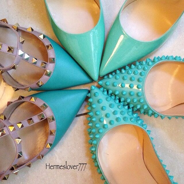 Love this color and these shoes! Would rock all of them! #fashionista #girleegirl
