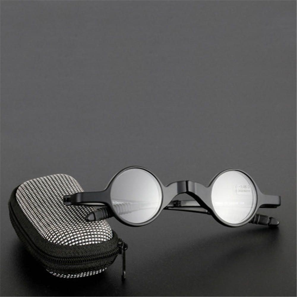 Női férfiak összecsukható presbyopikus poharak fekete fém keret  napszemüvegek olvasó szemüvegek szemüveges tok a71ee6904c