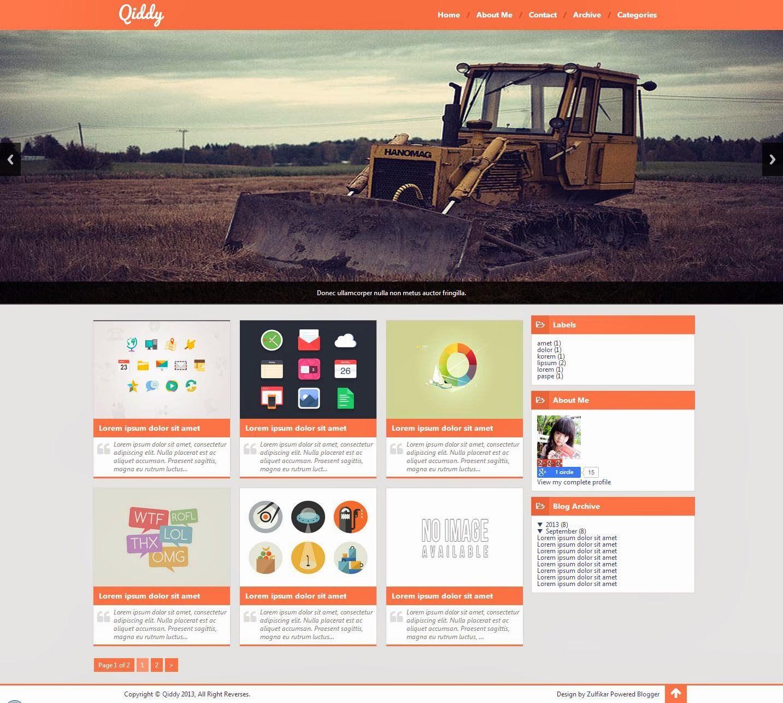 Qiddy Blogger Template | Web Design | Pinterest